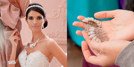 Bridal fashion accessories.