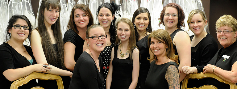 Employees of Dominique Levesque Bridal.