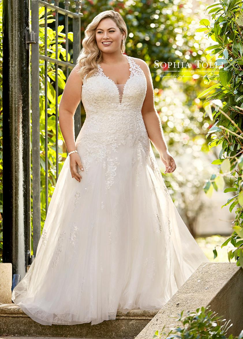 Wedding Dress ST36911YBG - Dominique Levesque Bridal