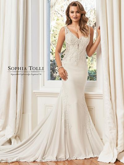 Wedding Dress ST05911YBG - Dominique Levesque Bridal